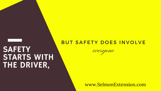 Safety involves everyone